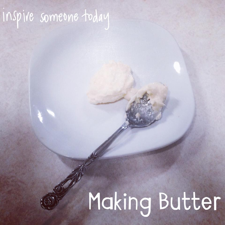Activities at Home: Learning to Turn Cream into Butter