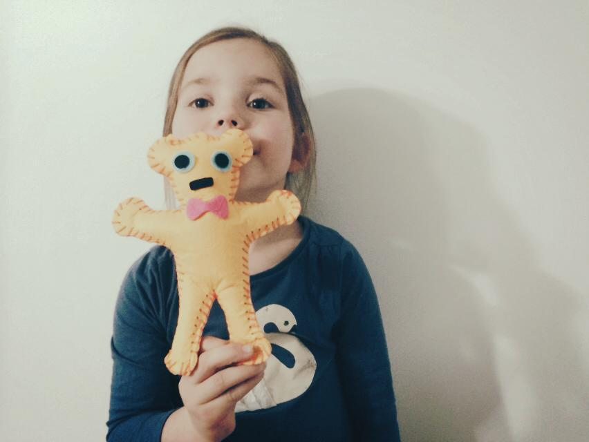 Learning to Sew : Creating a Felt Teddy Bear By Hand