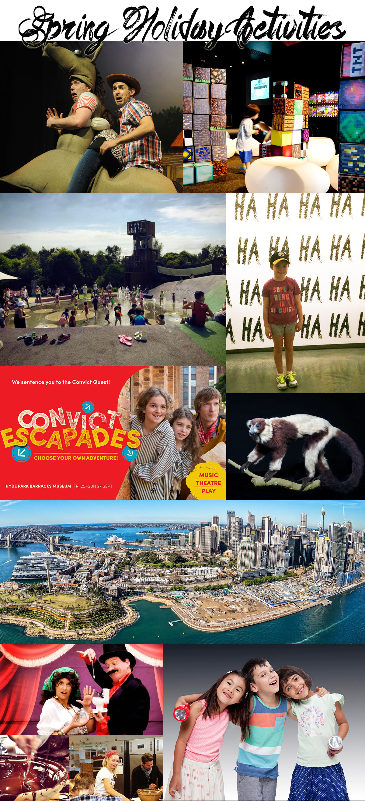 Sydney Spring School Holidays : Top Excursions, Activities and Shows for Kids