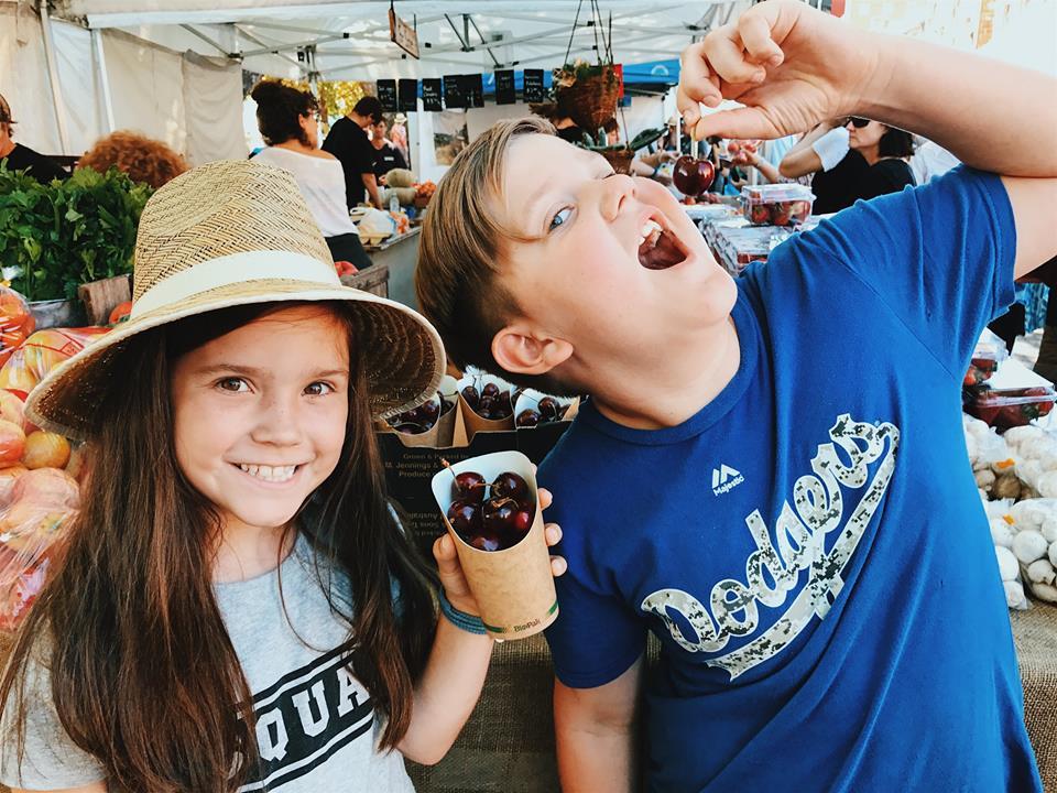 Salamanca Market with kids