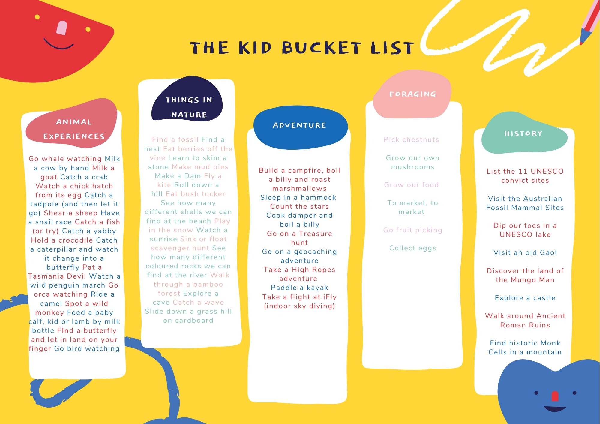 The Bucket List The Kid Bucket List Every Child Need To Do